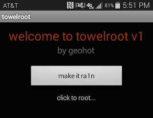 towelroot for Samsung Galaxy S5 on AT&T and Verizon