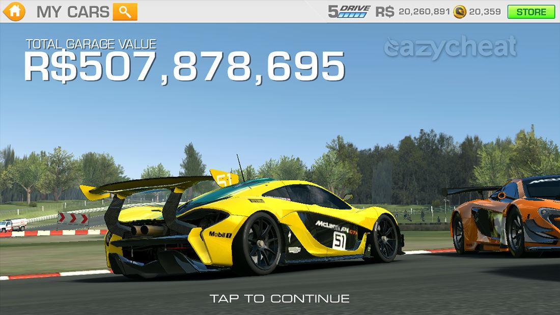 Ea Real Racing  Car List