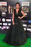 Esha Gupta in a Deep Neck Sleeveless Dark Green Gown at IIFA Utsavam Awards 2017     50.JPG