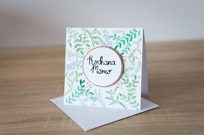 Kartka na Dzień Matki – liście