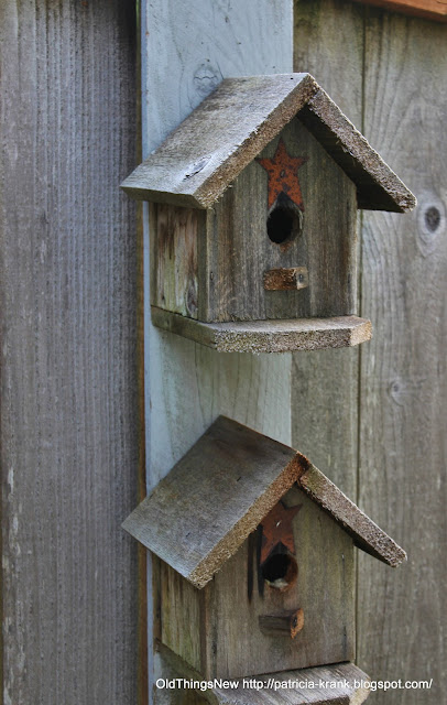 Painted birdhouses old things new for Different bird houses