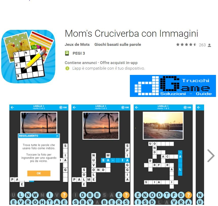 Soluzioni Mom's Cruciverba con Immagini