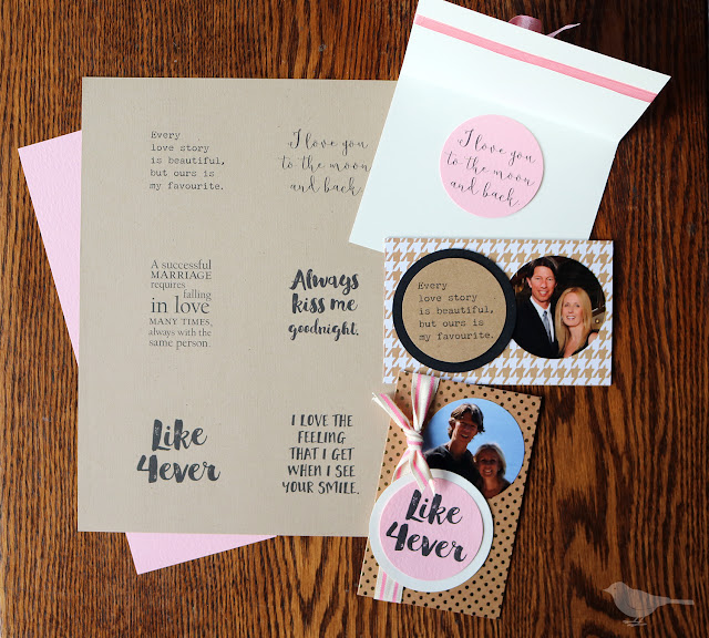 handmade photo cards for Valentine's day and a free printable | Lorrie Everitt Studio