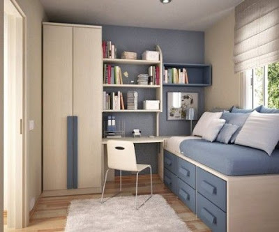Mempunyai keterbatasan ruang ialah hal masuk akal saat mendiami  40 Ide Terbaik Desain Interior Kamar Tidur Sempit