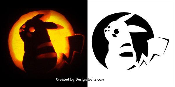 Easy pokemon pumpkin carving patterns stencil design