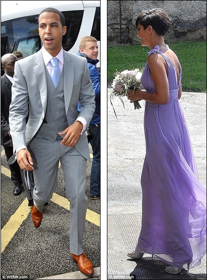 Marvin Humes Looked Der As He Arrived At The Church For Wedding Of Una Healy And Ben Foden While Bridesmaid Frankie Sandford Was Stunning In Lilac