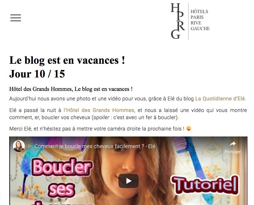 hotels paris rive gauche paris - influenceur - laquotidiennedele