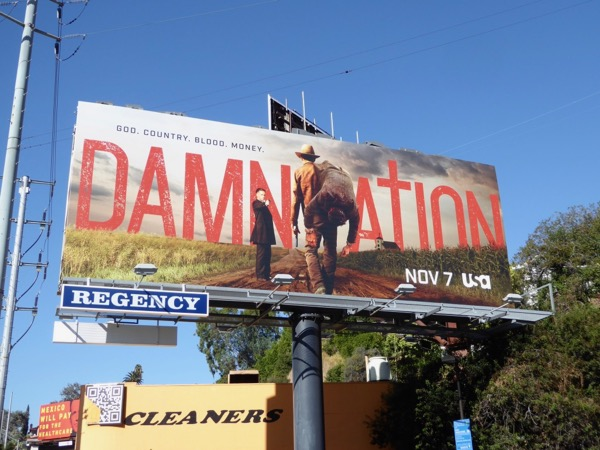 Damnation series premiere billboard
