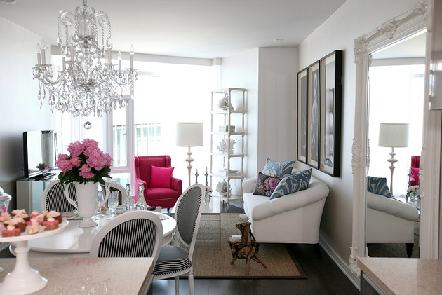 Pink Living Rooms Images 2021