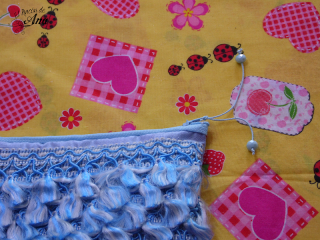 Clutch con flecos - Tutorial de costura