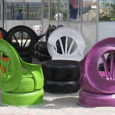 Simpleliving: August Junk Challenge ! Reuse car tyres to