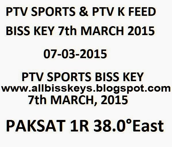 PTV Sports New Biss Key Frequency Code 6th January 2018 PAK