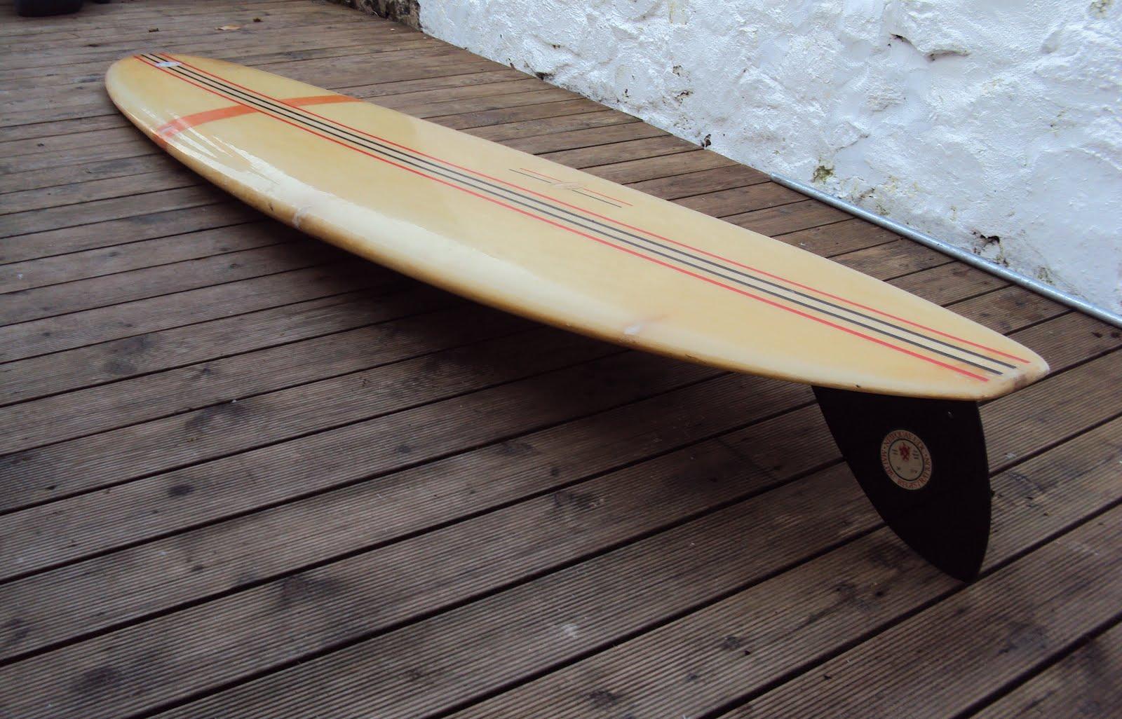 Vintage Surfboard Collector Uk 1965 6 Bickers Longboard