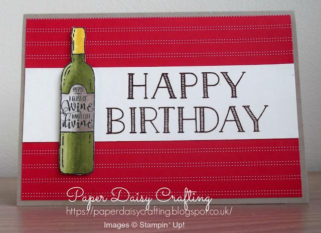 Birthday card using Half Full and Big on Birthdays