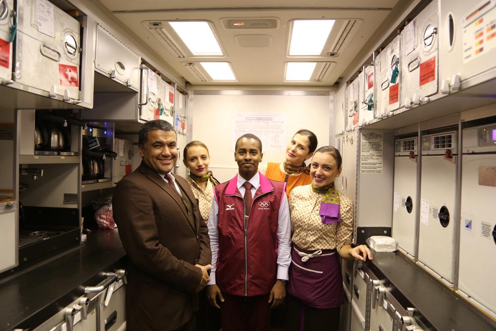 On board with Etihad Airways flight attendants