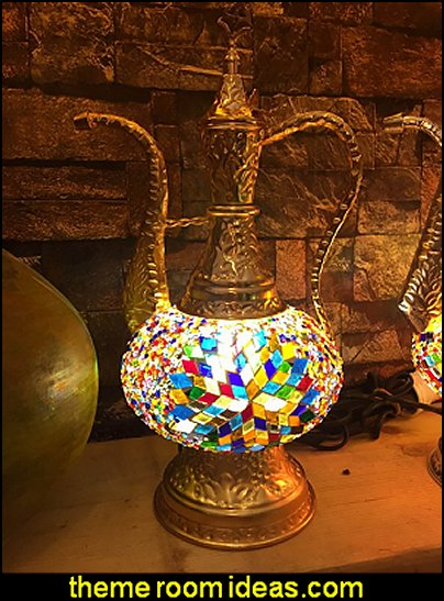 Turkish Mosaic Lamp  Moroccan decorating ideas - Moroccan decor - Moroccan furniture - decorating Moroccan style - Moroccan themed bedroom decorating ideas - Exotic theme decorating - Sultans Palace - harem style bedrooms Arabian nights Moroccan bedroom furniture - moroccan wall decoration ideas
