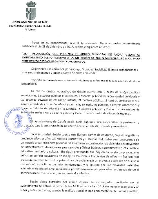 Mareaverde aprobada la proposici n del grupo municipal de for Validez acuerdo privado clausula suelo