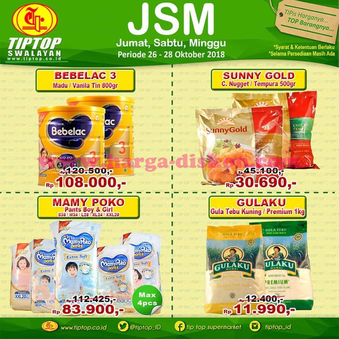 Katalog Promo JSM Tip Top Akhir Pekan Weekend 26 – 28 Oktober 2018