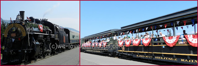 The train was dressed to celebrate the Jubilee