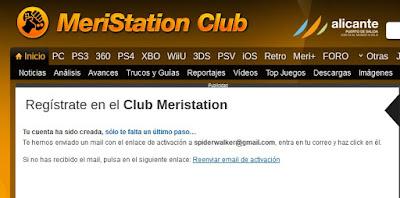 Cómo registrarse en Meristation