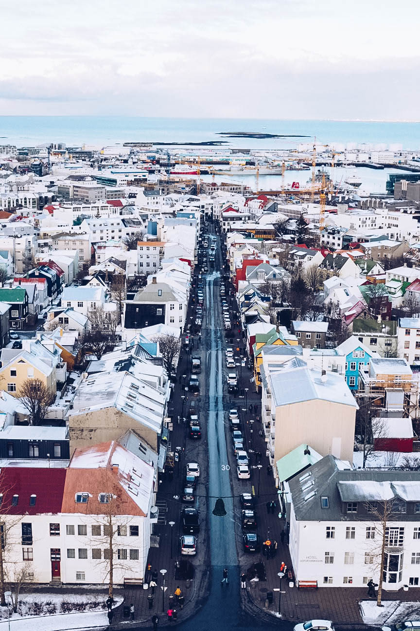 View from top of Hallgrímskirkja church