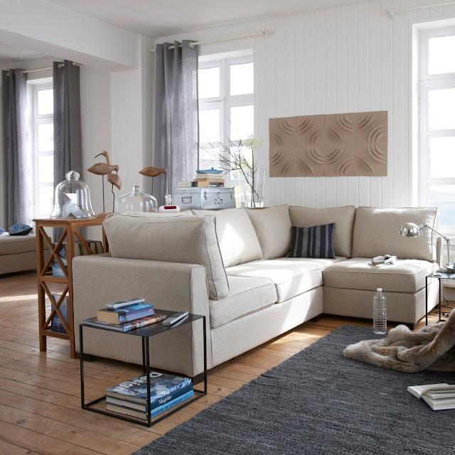 d coration salon bleu et beige. Black Bedroom Furniture Sets. Home Design Ideas