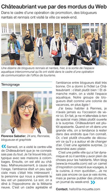 blog, presse, ouest france, chateaubriant, bullelodie