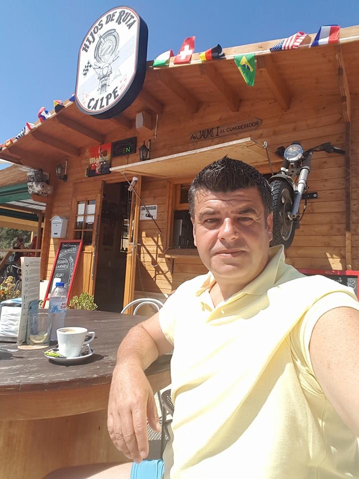 Craig outside shed