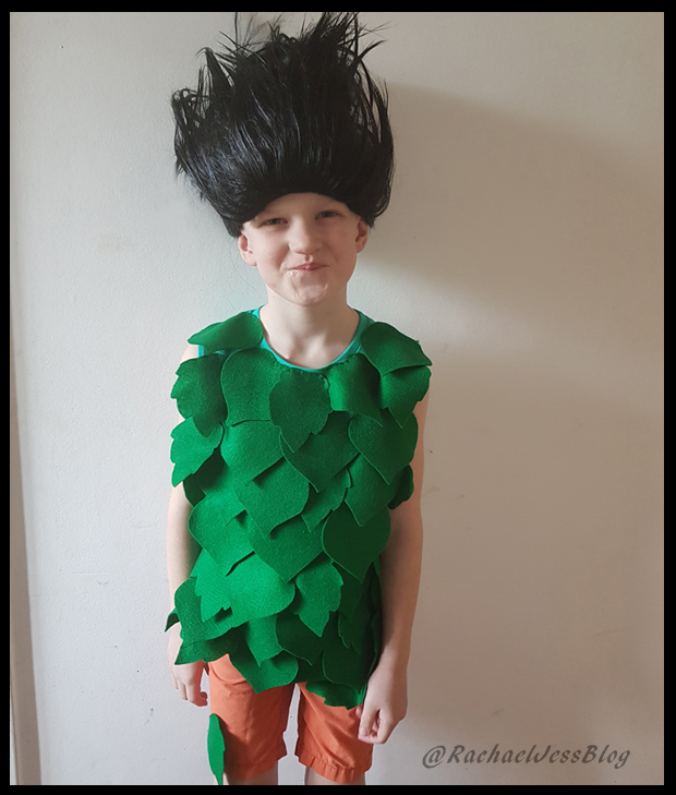 Handmade Branch Troll Costume for a fancy dress party