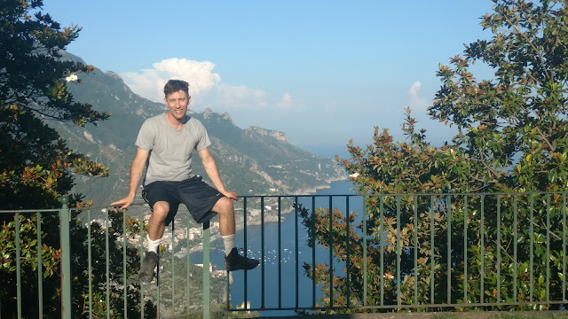 high above the water in Ravello