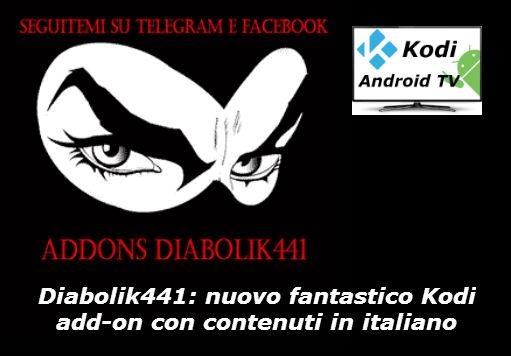 Diabolik441, add-on Kodi con contenuti esclusivi in italiano