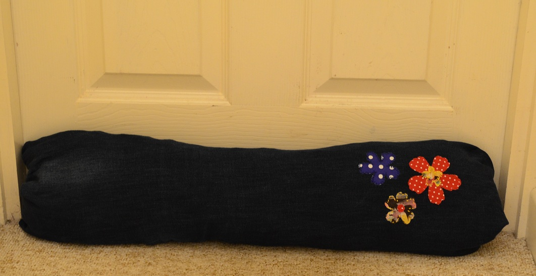 The Frugal Graduate How To Make An Applique Draught Excluder
