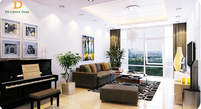 Phòng khách căn hộ Pd Green Park