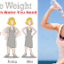 How Much Water You Need To Drink In Order To Lose Weight!