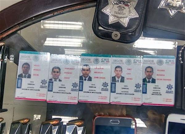 Detienen a 5 policías federales con un hombre secuestrado y 228 dosis de droga en Edomex