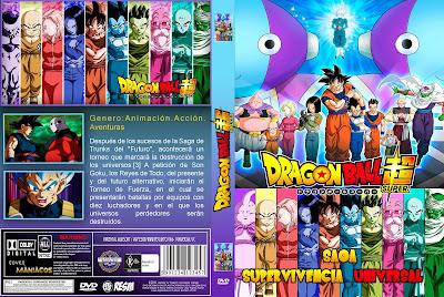 CARATULA DRAGON BALL SUPER SAGA SUPERVIVENCIA UNIVERSAL- 2018 [COVER DVD]