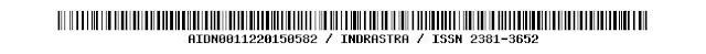 AIDN0011220150582 / INDRASTRA / ISSN 2381-3652