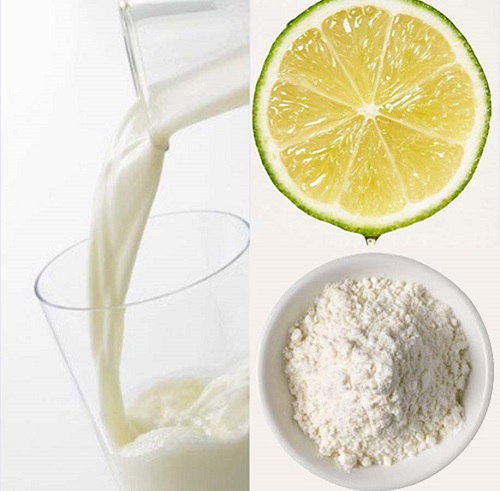 Cách làm trắng da từ bột gạo, sữa tươi, mật ong và nước cốt chanh