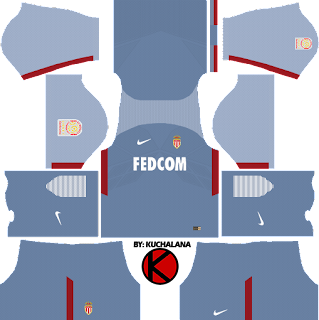 AS Monaco FC Nike Kits 2017/18 - Dream League Soccer