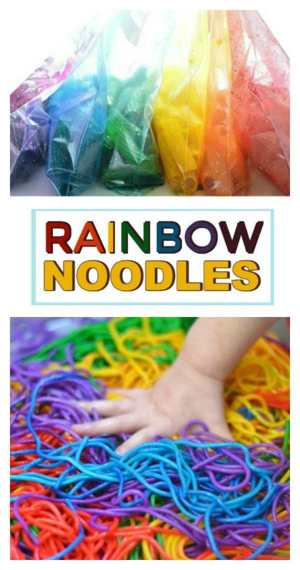 HOW TO DYE PASTA for arts, crafts, & sensory play (SPAGHETTI SLIME RECIPE) #slimerecipe #slime #howtodyepasta #spaghettislime #spaghettislimehowtomake