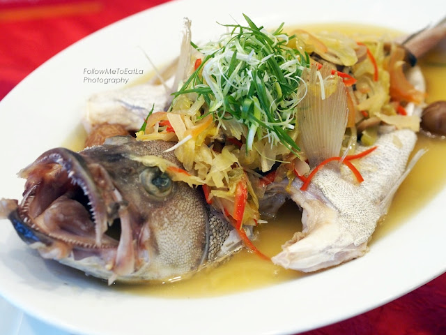 Steamed Whole Garoupa Fish
