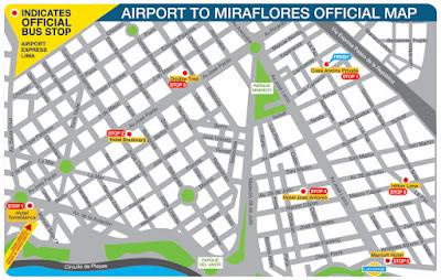 Airport Express Lima, paradas bus Lima Miraflores, Buses Jorge Chávez Lima