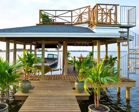 two-story boat dock