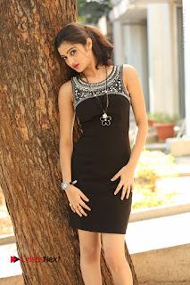 Actress Poojitha Pallavi Naidu Stills in Black Short Dress at Inkenti Nuvve Cheppu Movie Platinum Disc Function  0049.JPG