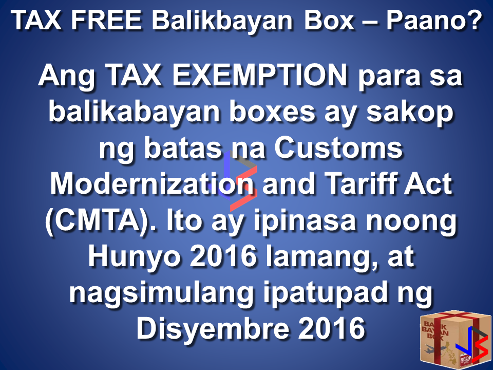 Your balikbayan box is tax free here 39 s what you need to for Bureau tagalog