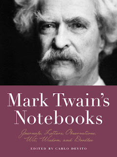 Image of Book Cover for Mark Twain's Notebooks: Journals, Letters, Observations, Wit, Wisdom and Doodles on the Writer Wednesday blog post for Extra Ink Edits