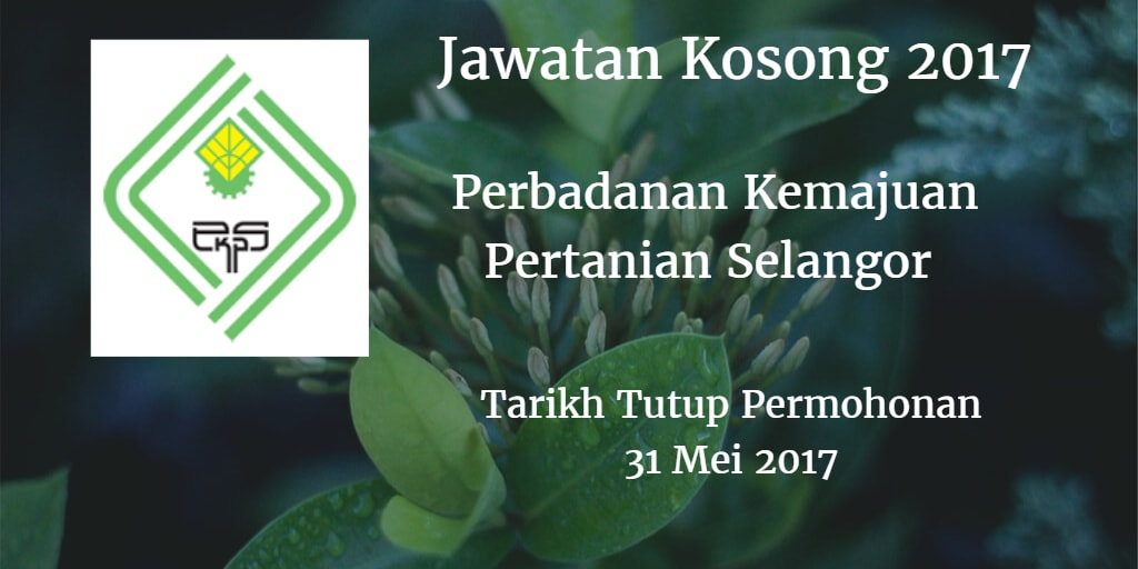Jawatan Kosong PKPS 31 Mei 2017