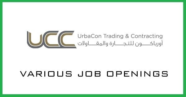 UrbaCon Trading and Contracting Careers - Gulf Job Vacancies