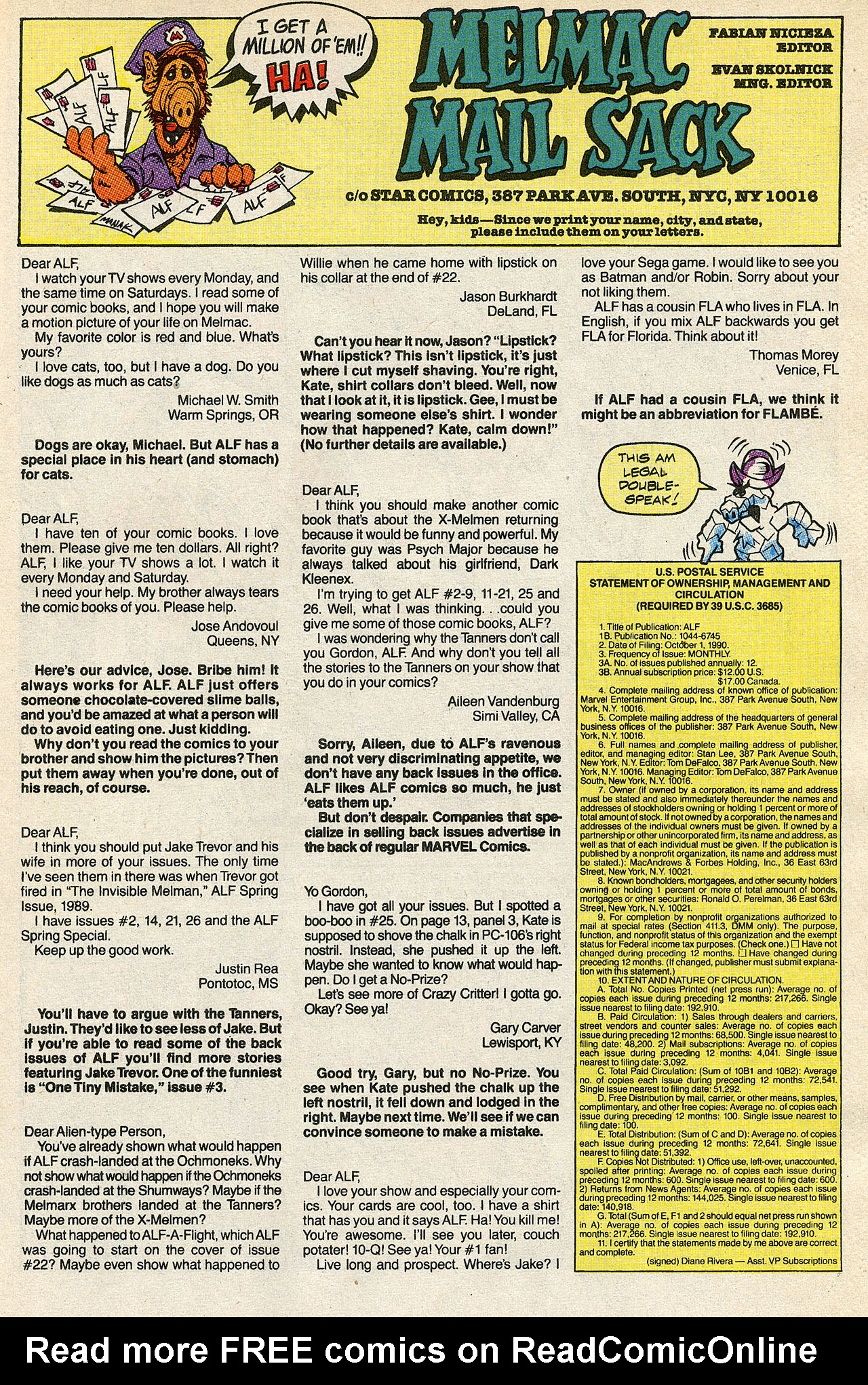 Read online ALF comic -  Issue #39 - 34