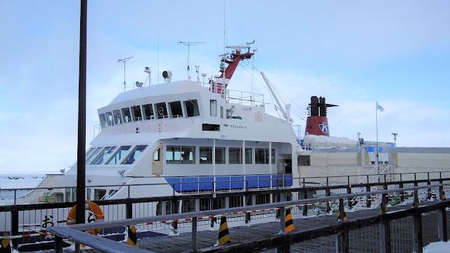 北海道旅行にて網走で流氷クルーズ船おーろら号に乗る